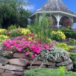 A Gazebo With Flower Landscape