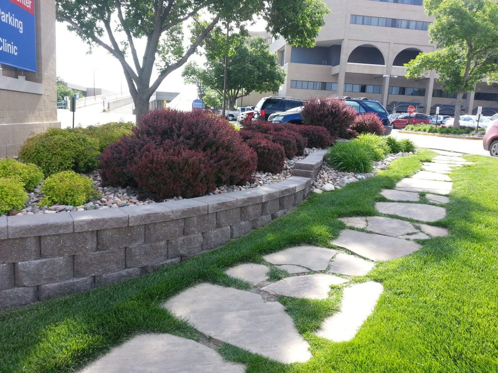 Gallery retaining walls above beyond cgm for Landscape design omaha