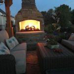 Relaxing-back-yard-patio-fireplace