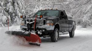 Omaha snow removal plow truck