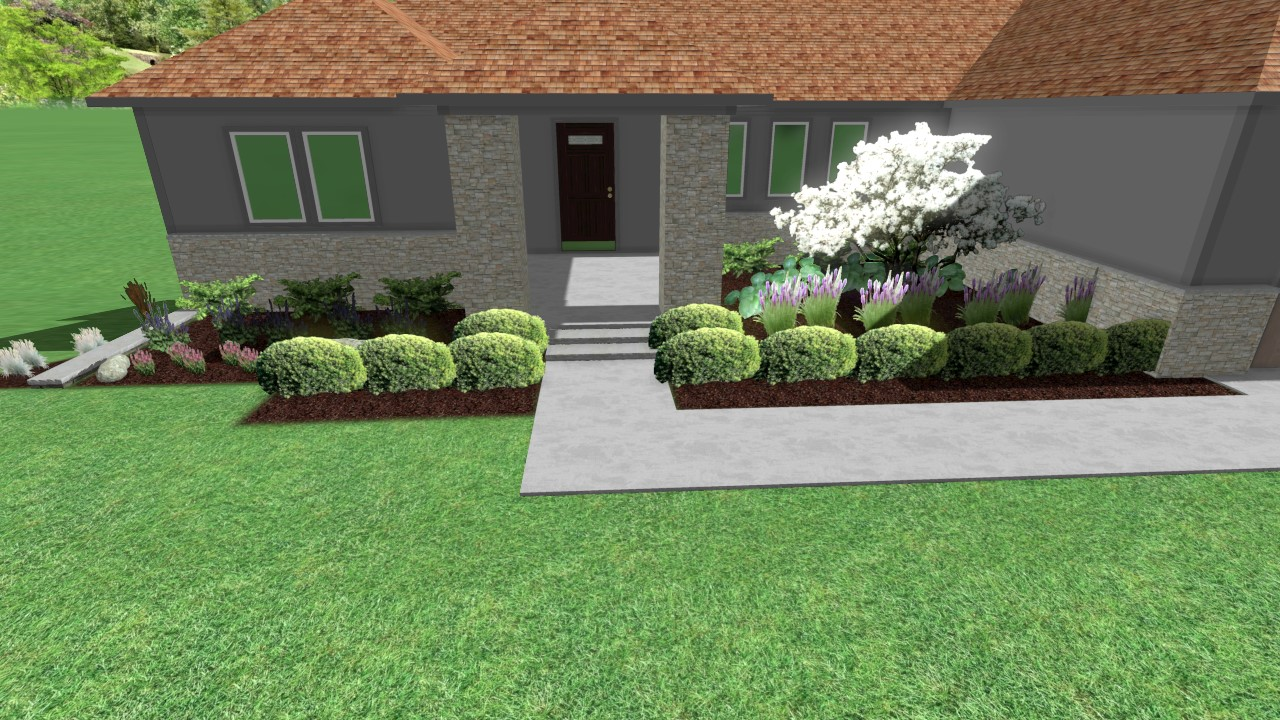 Landscape Design Front Yard Curb Appeal Above Beyond Cgm